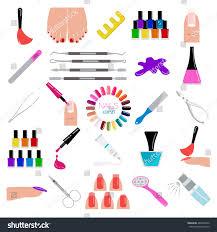 manicure nail salon icon set vector stock vector 480705442