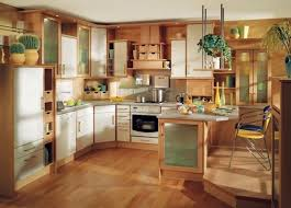 Light Oak Kitchen Cabinets Cool U Shape Kitchen Decoration Using White Wood 1960s Kitchen