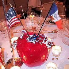 themed centerpieces theatrical designer martin izqueirdo created these patriotic and