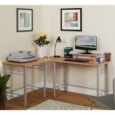 Fully Assembled Computer Desks by Simple Living L Shaped Natural Computer Desk Free Shipping Today