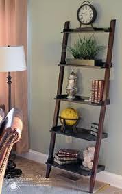 5 Tier Bookshelf Ladder 5 Tier Leaning Shelf Living Room Pinterest Leaning Shelves