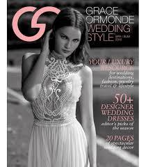 wedding magazines grace ormonde wedding style magazine 2016 summer
