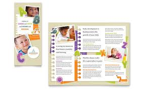 tri fold brochure publisher template kindergarten tri fold brochure template word publisher