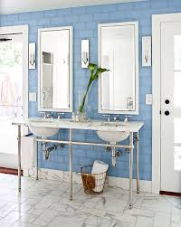 Ideas For White Bathrooms Decorating Ideas For Blue And White Bathrooms Traditional Home