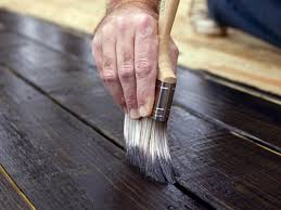 How To Paint Outdoor Concrete Patio How To Stain A Wooden Deck Hgtv