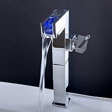 Led Bathroom Faucets Wondrous Inspration Led Bathroom Sink Faucet Color Changing Led