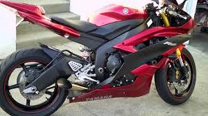 2007 yamaha r6 candy red exhaust youtube