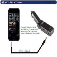 bc06 car bluetooth fm transmitter mp3 player car kit hands free