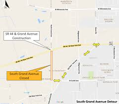 Map Of Volusia County Roundabout Construction Begins On State Road 44 Detours Posted