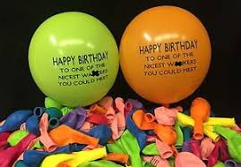 helium birthday balloons 5 happy birthday to the nicest w ker balloons rude balloon helium