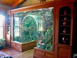 Aquarium Decorations Ideas With Natural Nuance  Unique Interior - Unique home interior designs