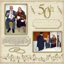 50th wedding anniversary photo album 50th anniversary scrapbook pages search 25th