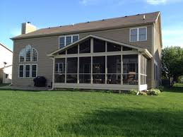 screened porch and patio combination in chicago area archadeck