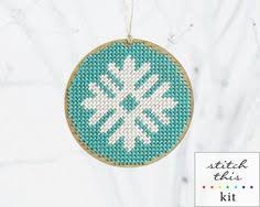 awesome etsy find ornament needlepoint kits by modern