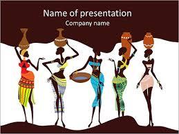 beautiful african women powerpoint template u0026 backgrounds id