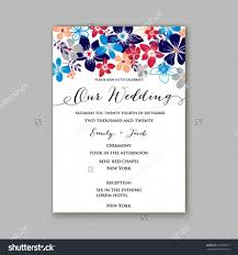 Post Card Invitations Wedding Invitation Template Or Card With Tropical Floral