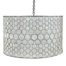 lighting chain by the foot includes canopy 3 foot chain material metal frame w capiz shell