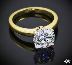 gold engagement ring settings a broadway introducing the broadway solitaire engagement