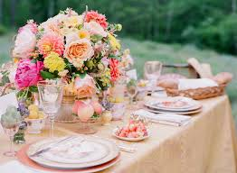 Summer Table Decorations Spring Florals And Fruit Table Decor Elizabeth Anne Designs The