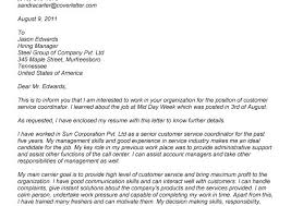 cover letter for customer service and sales position losses