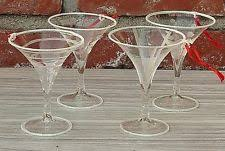 mikasa cheers martini glass ornaments set of 4 iridescent