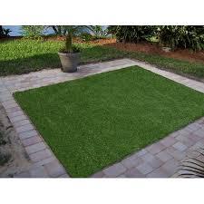 Grass Area Rug Ottomanson Garden Grass Collection Indoor Outdoor Artificial Solid