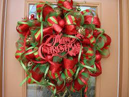 christmas wreath deco mesh wreath wreath red christmas