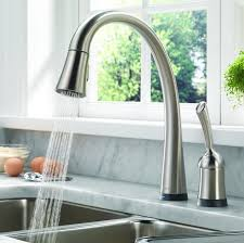 delta waterfall kitchen faucet delta brushed nickel kitchen faucet kitchen delta faucets