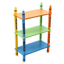 3 Tier Shelving Unit by Bebe Style Childrens Wooden Crayon Themed 3 Tiered Shelves Amazon