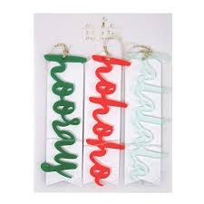 Gift Wrapping Accessories - acrylic words gift tags set by meri meri luxury gift wrapping