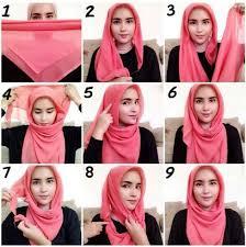 tutorial hijab segi empat paris simple tutorial hijab segi empat kerudung pinterest gaya hijab