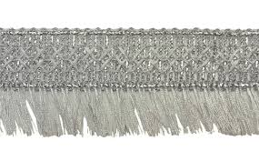 Home Decor Trim by Silver Fringe Trim Sewing Trim Embellishments Home Decor Trim