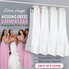 wedding dress garment bag white large wedding dress bridal gown garment breathable