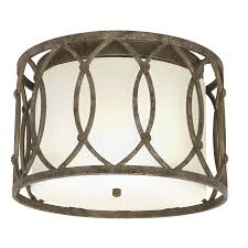 Lowes Ceiling Lights by 23 On Sale At Lowes Shop Allen Roth Brushed Nickel Flush Mount