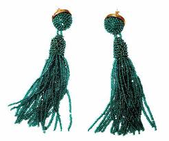 green earrings emerald green tassel earrings molly designs