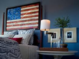 American Flag Bed Set American Flag Themed Bedroom Feature Friday White And Blue Decor