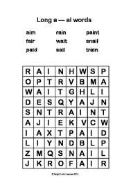 short and long vowel combination sounds word search by bright