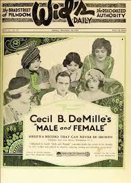 film love cecil cecil b demille male and female film daily 1919 maschio e femmina