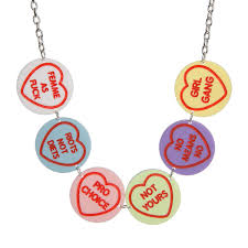 necklace hearts images Feminist love hearts necklace sugar vice jpg