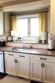 ideas for kitchen windows simple windows treatment for kitchen with yellow curtain kitchen