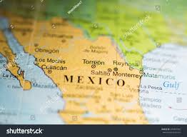 Central Mexico Map by Map View Torreon Mexico On Geographical Stock Photo 374481592
