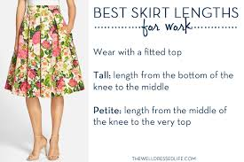 the best skirt lengths for work
