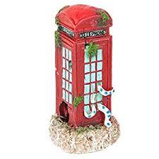 aquarium fish tank ornament phone box small co uk pet