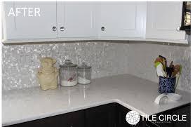 mother of pearl floor l pearl backsplash before after photos tile circle avaz international