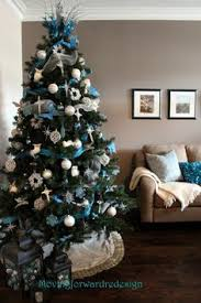 Blue Christmas Trees Decorating Ideas - silver and blue christmas tree christmas pinterest blue