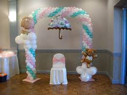elegant baby shower balloons 12 in with baby shower balloons home