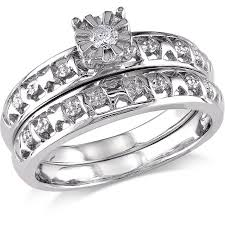 bridal ring set miabella diamond accent bridal ring set in sterling silver