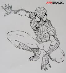 drawing spiderman photos spider man outline drawing