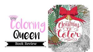 christmas color coloring book review