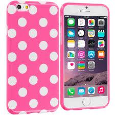 for apple iphone 6 plus 5 5 tpu polka dot design rubber hard